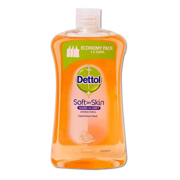 Dettol Liquid Soap Grapefruit Refill Ανταλλακτικό Αντιβακτηριδιακό Υγρό Κρεμοσάπουνο Χεριών με Γκρέιπφρουτ 750ml