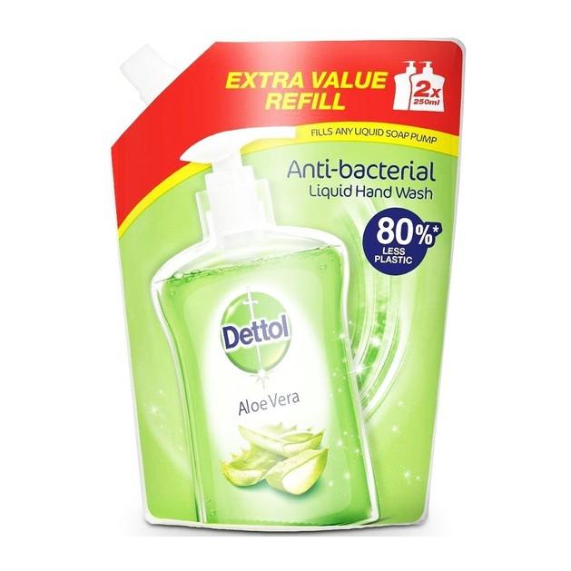 Dettol Soft on Skin Hard on Dirt Aloe Vera Refill Ανταλλακτικό Αντιβακτηριδιακό Υγρό Κρεμοσάπουνο 500ml