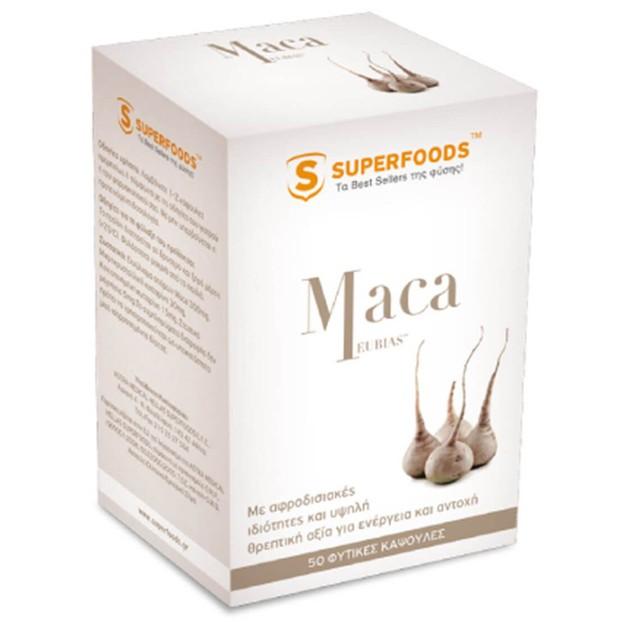 Superfoods Maca Συμπλήρωμα Διατροφής για Αύξηση της Libido 50caps
