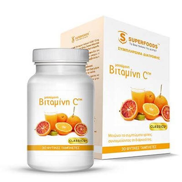 Superfoods Μασώμενη Βιταμίνη C 30 ταμπλέτες