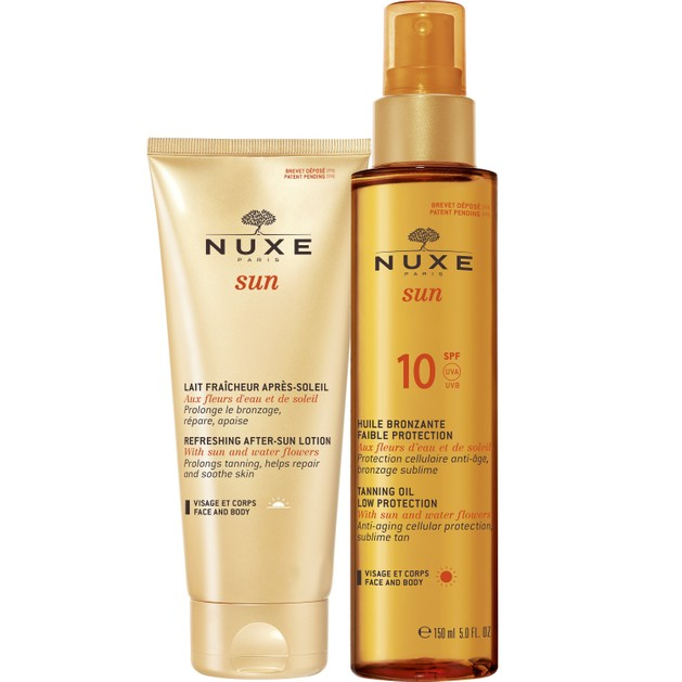 Nuxe Πακέτο Προσφοράς Sun Huile Bronzante Spf10 Λάδι Μαυρίσματος Πρόσωπο & Σώμα 150ml & Δώρο Refreshing After Sun Lotion 100ml