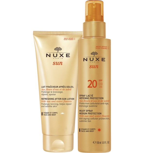 Nuxe Πακέτο Προσφοράς Sun Spray Lacte Spf20 Αντηλιακό Γαλάκτωμα Πρόσωπο & Σώμα 150ml & Δώρο Refreshing After Sun Lotion 100ml