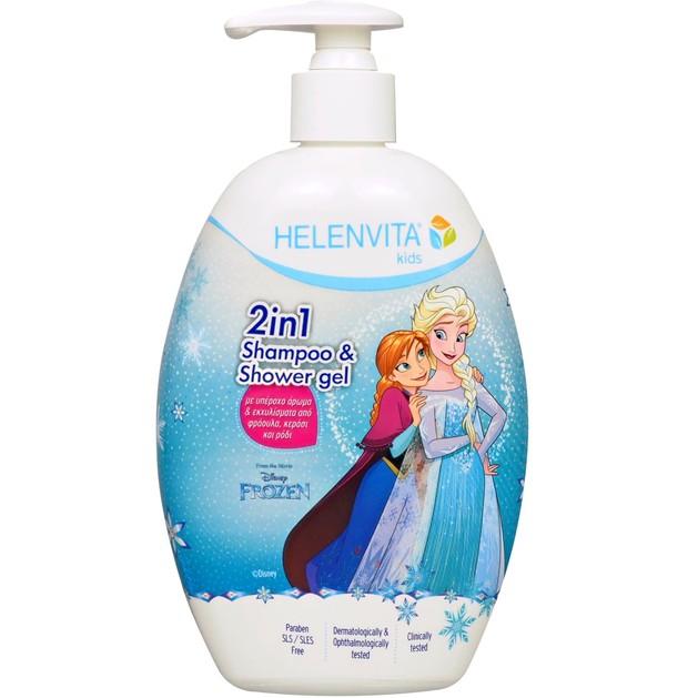 Helenvita Kids Frozen 2 in 1 Shampoo & Shower Gel Παιδικό Ήπιο Σαμπουάν & Αφρόλουτρο με Υπέροχο Άρωμα 500ml