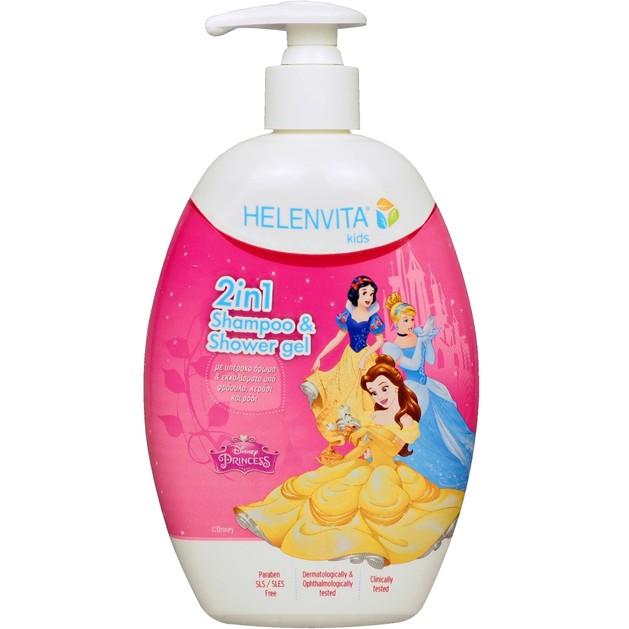 Helenvita Kids Princess 2 in 1 Shampoo & Shower Gel Παιδικό Ήπιο Σαμπουάν & Αφρόλουτρο με Υπέροχο Άρωμα 500ml