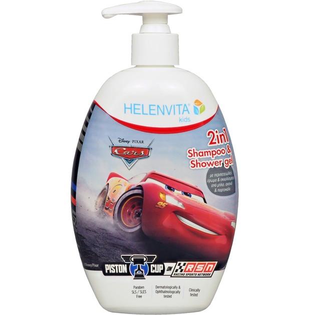 Helenvita Kids Cars 2 in 1 Shampoo & Shower Gel Παιδικό Ήπιο Σαμπουάν & Αφρόλουτρο με Υπέροχο Άρωμα 500ml