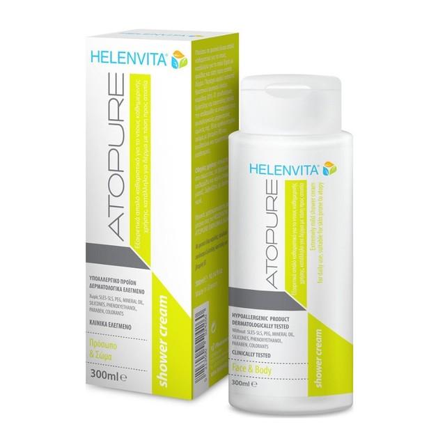 Helenvita Atopure Shower Cream Βρεφικό Εξαιρετικά Απαλό Κρεμοντούς Καθημερινής Χρήσης Κατάλληλο για Δέρμα με Τάση Ατοπίας 300ml