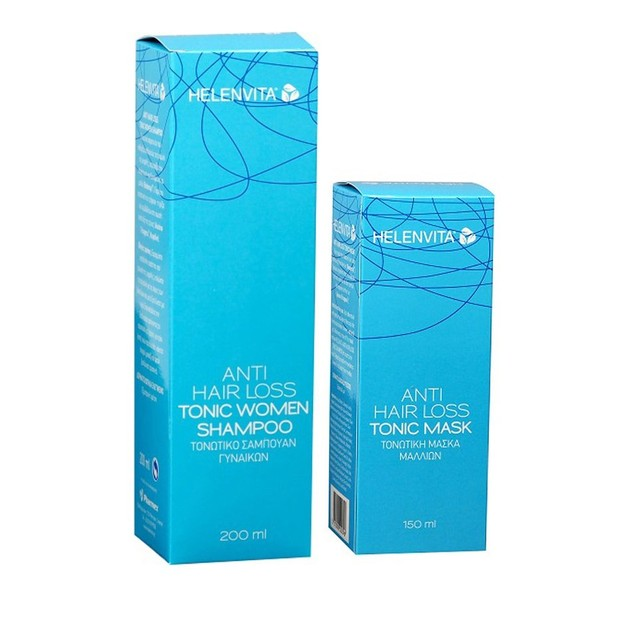 Helenvita Πακέτο Προσφοράς Anti-Hair Loss Tonic Women Shampoo 200ml & Δώρο Anti-Hair Loss Tonic Mask 150ml