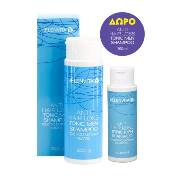 Helenvita Πακέτο Προσφοράς Anti-Hair Loss Tonic Men Shampoo Τονωτικό Σαμπουάν Ανδρών 200ml & Δώρο Επιπλέον Ποσότητα 100ml