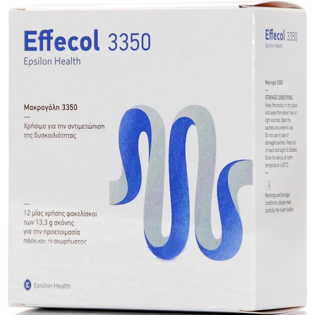 Effecol 3350 Ιατροτεχνολογικό Βοήθημα για την Αντιμετώπιση της Χρόνιας Δυσκοιλιότητας 12 Sachets