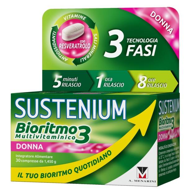 Menarini Sustenium Biorhythm3 Woman Συμπλήρωμα Διατροφής Πολυβιταμινών για Κάλυψη των Αναγκών του Γυναικείου Οργανισμού 30caps