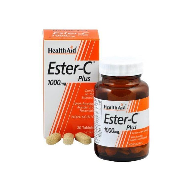 Health Aid Ester - C Plus 1000mg With Bioflavonoids 30tabs