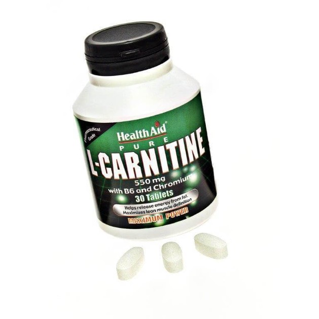 Health Aid L-Carnitine 550mg with Vitamin B6 & Chromium 30tabs
