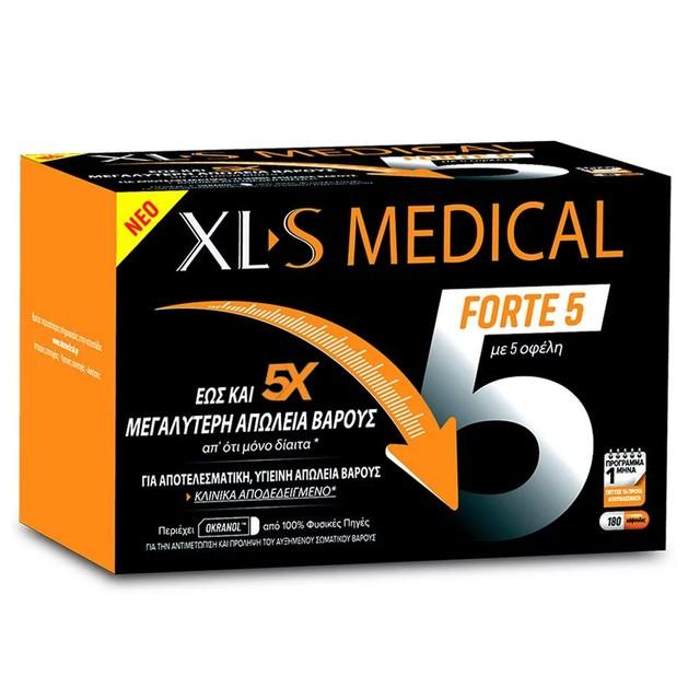 XLS Medical Forte 5 Συμπλήρωμα Διατροφής για Έως & 5x Μεγαλύτερη Απώλεια Βάρους 180caps