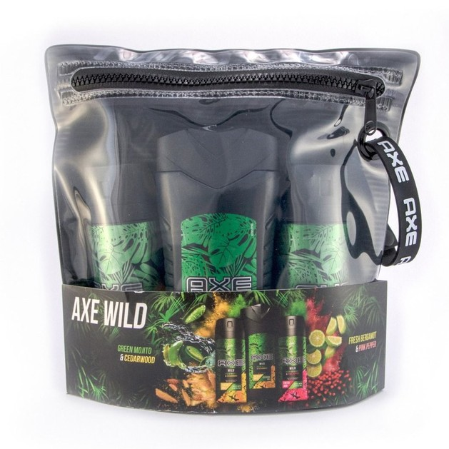 Axe Promo Wild Green Bodywash Green Mojito 250ml  & Body Spray Green Mojito 150ml & Body Spray Fresh Bergamont 150ml & Νεσεσέρ