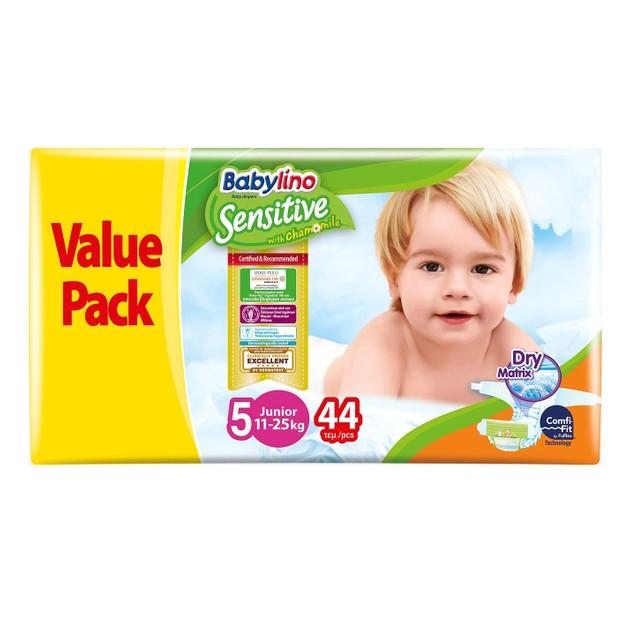 Babylino Sensitive Value Pack Junior Νο5 (11-25kg) Παιδικές Πάνες 44 τεμάχια