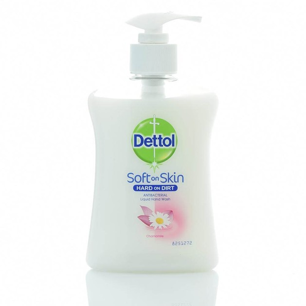 Dettol Soft On Skin Antibacterial Hand Wash Chamomile Αντιβακτιριδιακό Κρεμοσάπουνο Χεριών Χαμομήλι 250ml
