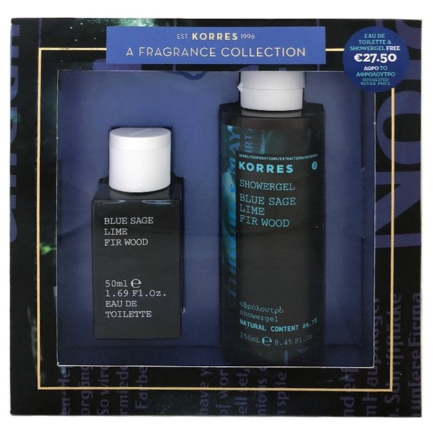 Korres Gift Set Eau De Toilette Blue Sage Lime Fir Wood Eau de Toilette 50ml & Δώρο ShowerGel 250ml