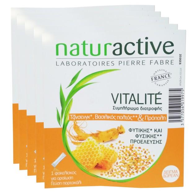 Δώρο Naturactive Vitalite Φυσικό Συμπλήρωμα Ενίσχυσης του Ανοσοποιητικού & Τόνωσης του Οργανισμού σε Περιόδους Κόπωσης 5 Sachets
