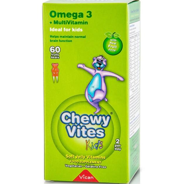 Chewy Vites Omega 3  Ζελεδάκια για Παιδιά, Γεύση & Ενέργεια στο Maximum 60Bears Chews 6212O