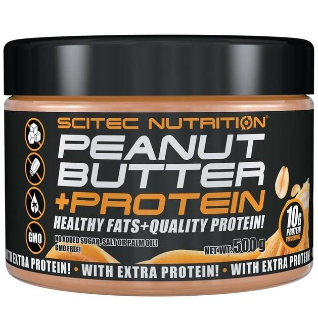 Scitec Nutrition Peanut Butter +Protein Φυστικοβούτυρο 500g