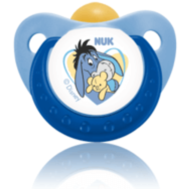 Nuk Trendline Disney Winnie the Pooh Πιπίλα Καουτσούκ με Κρίκο 1τμχ