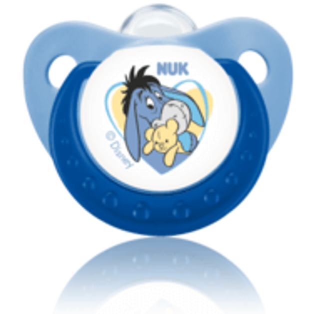 Nuk Trendline Disney Winnie the Pooh Πιπίλα Σιλικόνης με Κρίκο 1τμχ