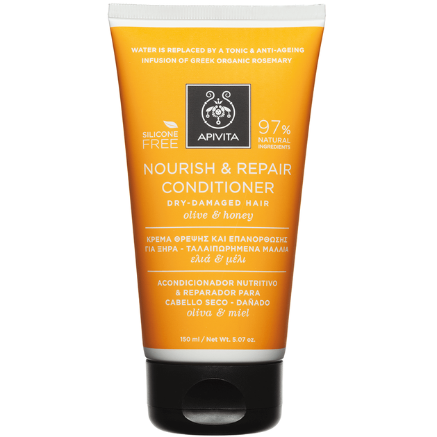 Nourish & Repair Conditioner For Dry & Damaged Hair With Olive & Honey 150ml - Apivita