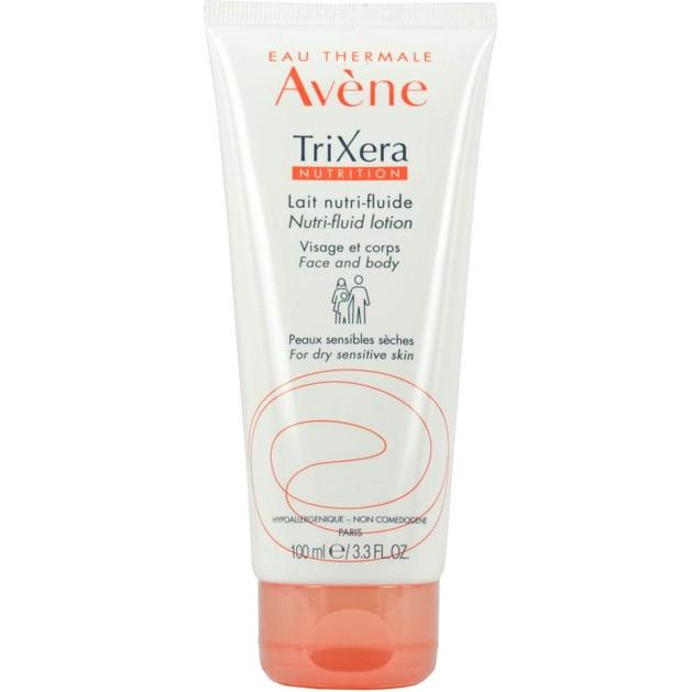 Avene Trixera Nutrition Lait Nutri-Fluide Λεπτόρρευστο Θρεπτικό Γαλάκτωμα για την Ενυδάτωση του Ευαίσθητου Ξηρού Δέρματος 100ml