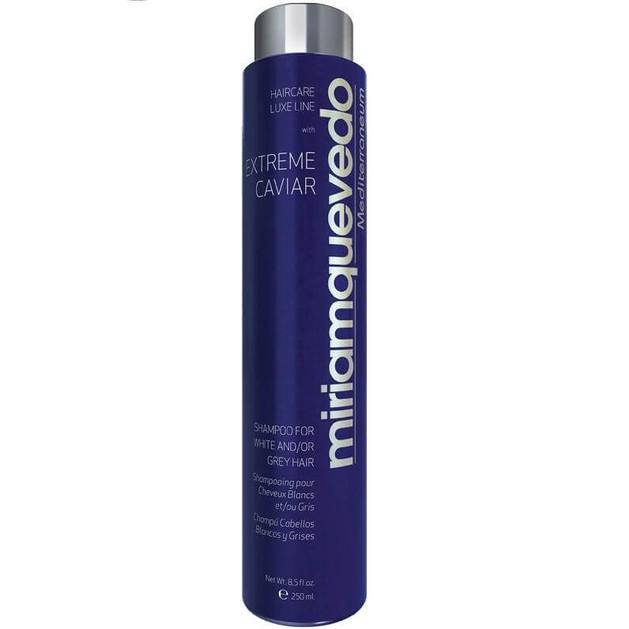 Miriam Quevedo Extreme Caviar Shampoo For White Και Grey Hair Σαμπουαν Για Λευκά Και Γκρίζα Μαλλιά 250ml