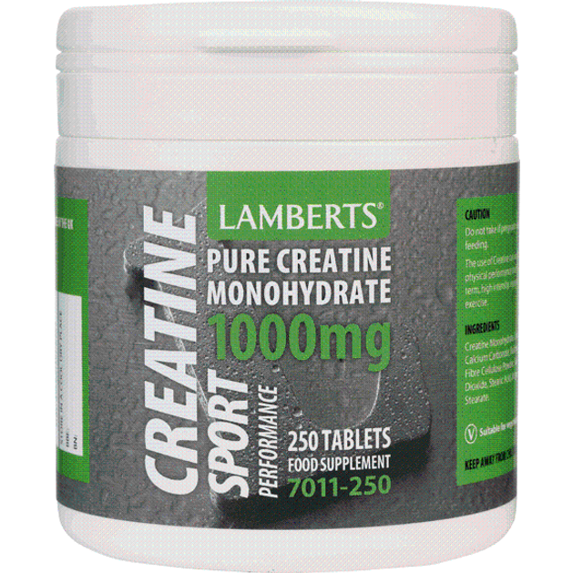 Lamberts Creatine 1000mg 250 tabs