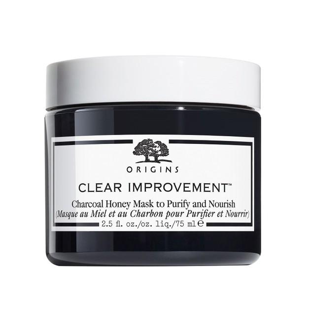 Origins Clear Improvement Charcoal Honey Mask To Purify & Nourish Μάσκα με Ενεργό Άνθρακα & Μέλι για Βαθύ Καθαρισμό & Θρέψη 75ml