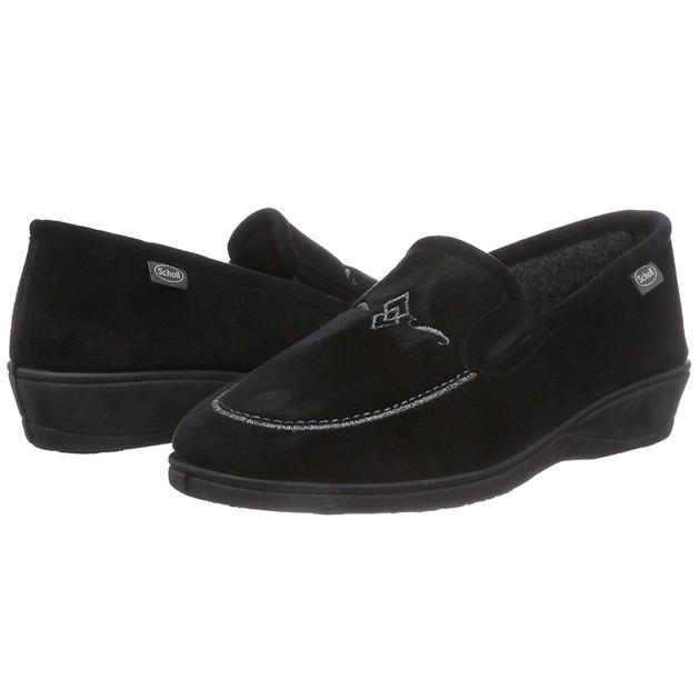Dr Scholl Shoes TiguanaΜαύροΑνατομικές Παντόφλες με Ειδική Επένδυση Εξαιρετικά Άνετες &ΑπαλέςNo39 1 Ζευγάρι