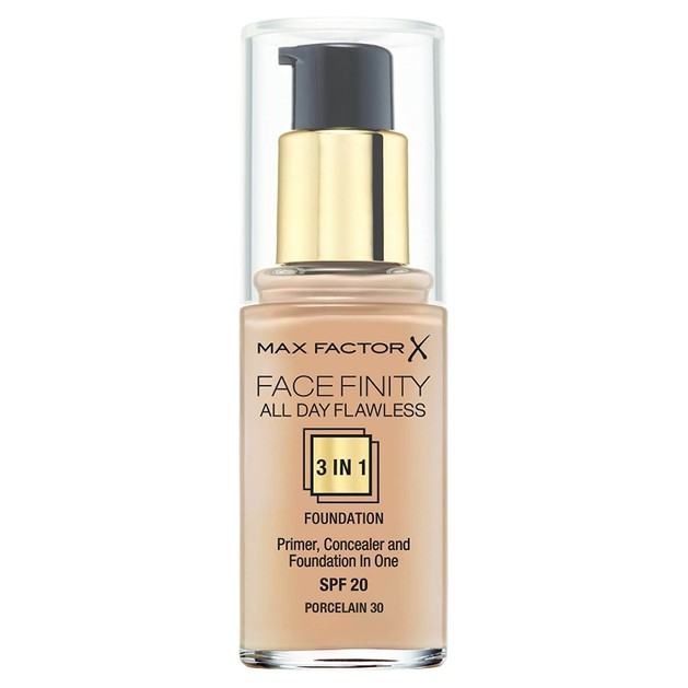 Max Factor Facefinity 30 Porcelain  3 in 1 Foundation 30ml  (make up)