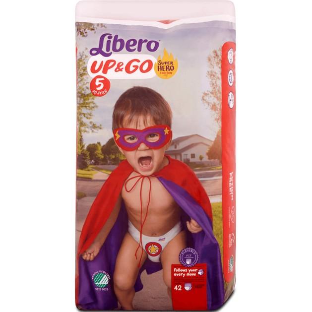 Libero Up&Go No5 (10-14kg) Maxi Plus, 42 πάνες