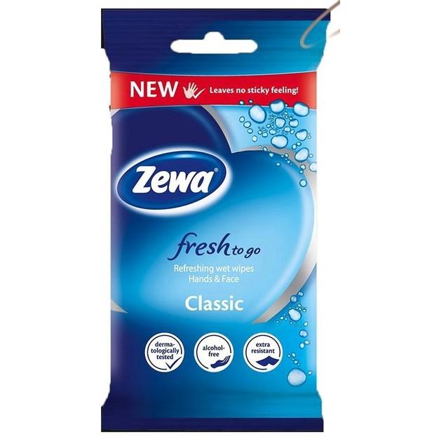 Zewa Fresh To Go Classic Υγρομάντηλα για Χέρια και Πρόσωπο 10 τμχ