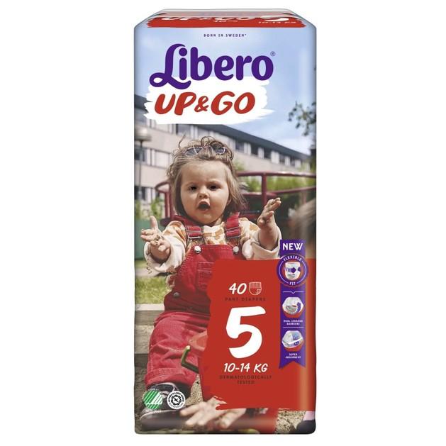Libero Up&Go No5 (10-14kg) Maxi Plus, 40 πάνες