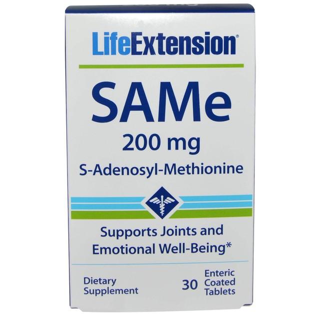 Life Extension SAMe 200mg (S-Adenosyl-Methionine) Συμπλήρωμα Διατροφής για Καταπολέμηση των Πόνων & Βελτίωση της Διάθεσης 30tabs