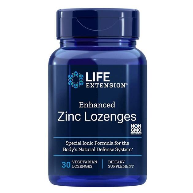 Life Extension Enhanced Zinc Lozenges (Peppermint) Συμπλήρωμα Διατροφής για τη Φυσιολογική Λειτουργία του Ανοσοποιητικού 30 Loz.