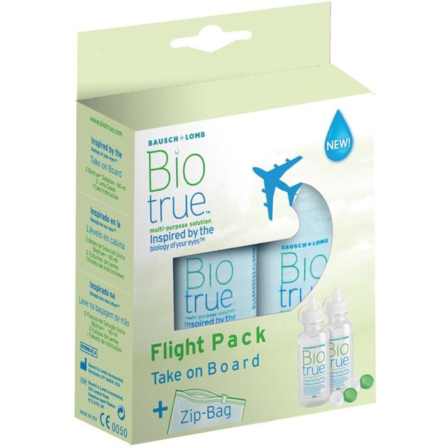 Bausch & Lomb Biotrue Take on Board Υγρό Φακών σε Πρακτική Συσκευασία Πτήσης 2x60ml