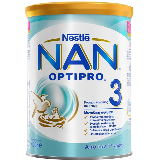 Nestle NAN Optipro 3 Ρόφημα Γάλακτος σε Σκόνη, Κατάλληλο Από τον 1ο Χρόνο 400gr