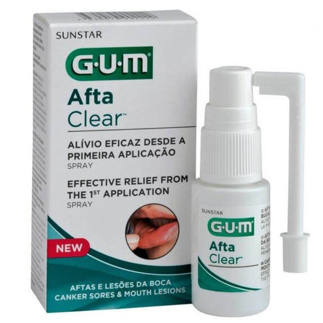 Gum Afta Clear Spray Μεγάλης Διάρκειας Σπρέυ για Άμεση Ανακούφιση Πόνου 15ml