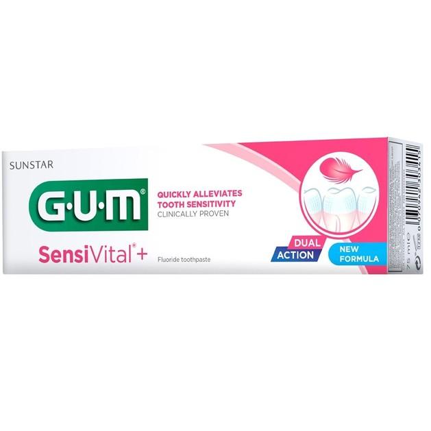 Gum 1722 Sensivital+ Toothpaste Οδοντόκρεμα Κατάλληλη για Ευαίσθητα Ούλα & Δόντια, 75ml