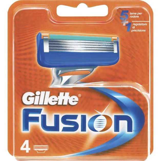 Gillette Fusion Manual Ανταλλακτικά Ξυριστικής Μηχανής με Λεπίδα Ακριβείας για Δύσκολα Σημεία 4 τεμάχια
