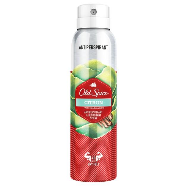 Old Spice Citron Antiperspirant & Deodorant Spray Αποσμητικό 48h Διάρκειας με Αισθητό Αρρενωπό Άρωμα 150ml