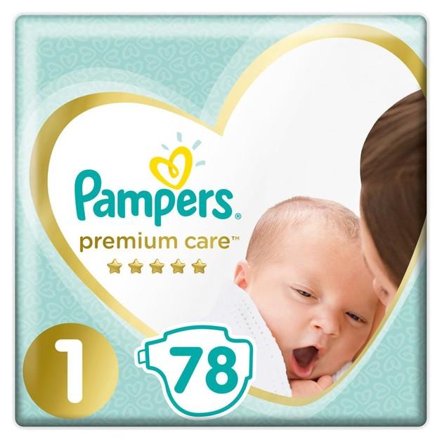 Pampers Premium Care Πάνες No 1 (2-5kg) 78Τμχ