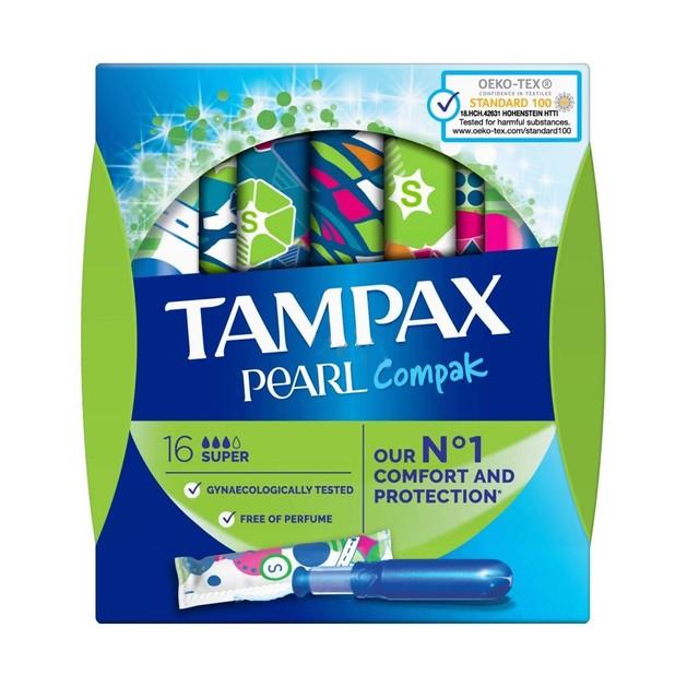 Tampax Pearl Compak Super 16 τεμάχια