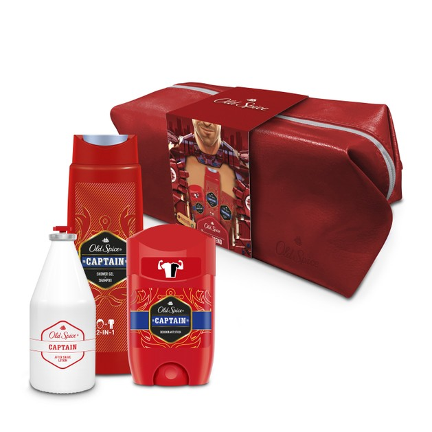 Old Spice Πακέτο Προσφοράς Captain Shower Gel 250ml & Captain After Shave Lotion 100ml & Captain Deodorant Stick 50ml