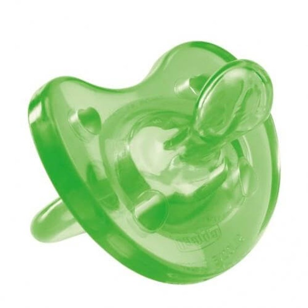 Physio Soft Πιπίλα Όλο Σιλικόνη Πράσινη 1τμχ - Chicco