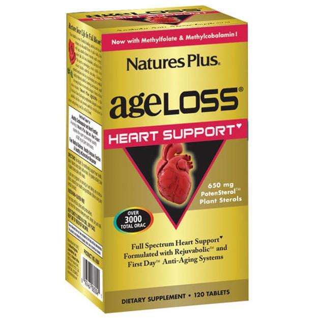 Nature\'s Plus AgeLoss Heart Support Συμπλήρωμα Διατροφής για την Διατήρηση της Καρδιακής Υγείας 120tabs
