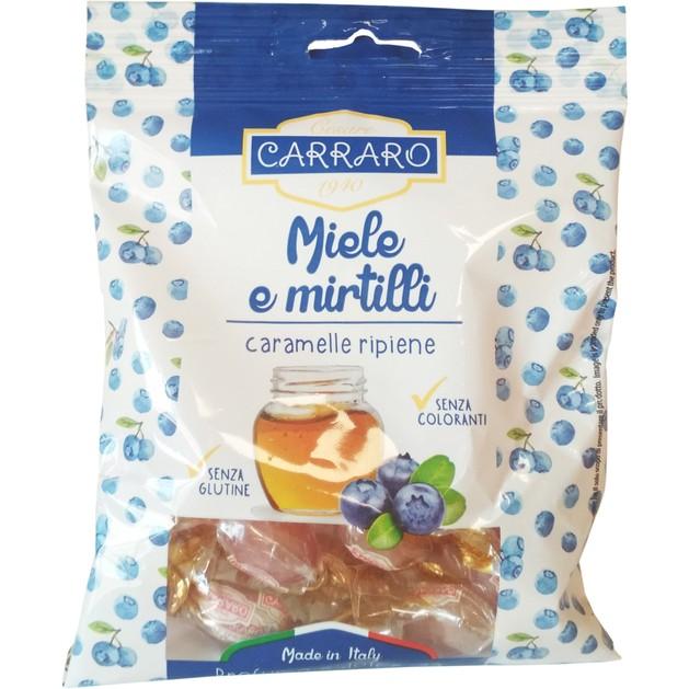 Carraro Caramelle Miele e Mirtilli Καραμέλες για το Λαιμό με Μέλι & Μύρτιλλο 100gr